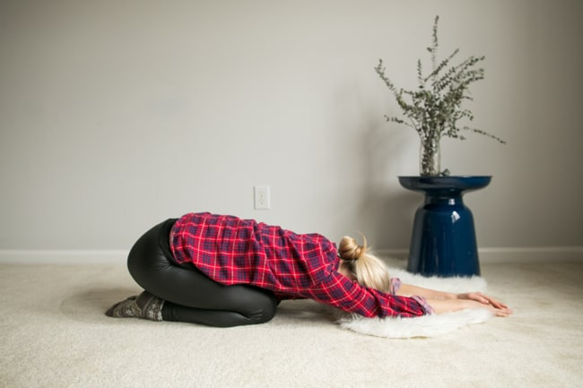 Child's Pose | 7 Back + Hip Stretches Perfect Before Bed