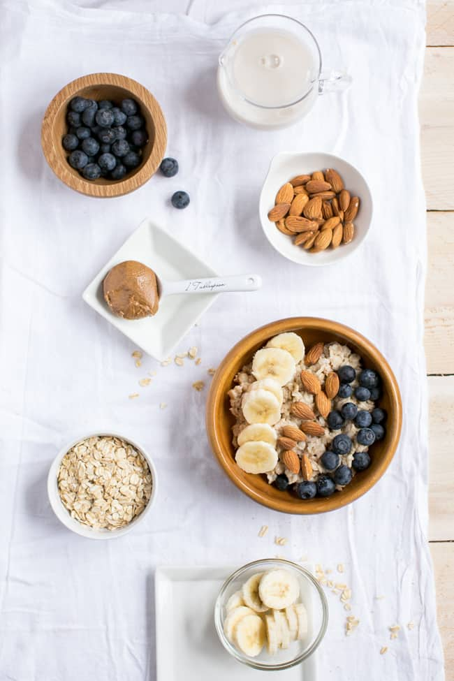 Almond Butter Oatmeal Bowl