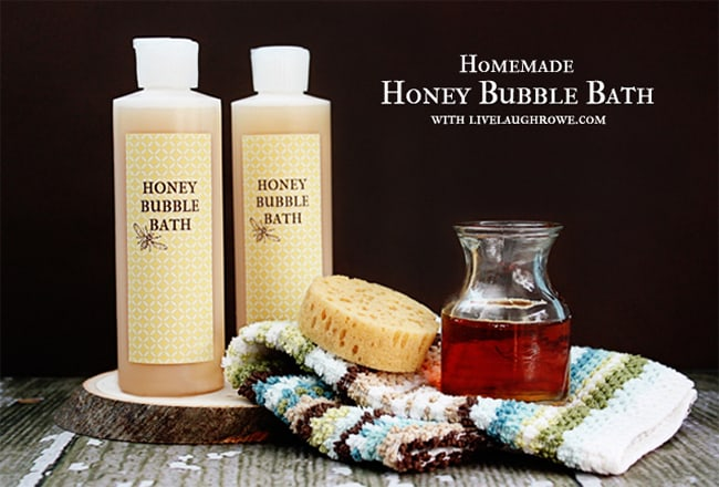 Homemade Honey Bubble Bath by Live Laugh Rowe | 10 Homemade Bubble Bath Recipes