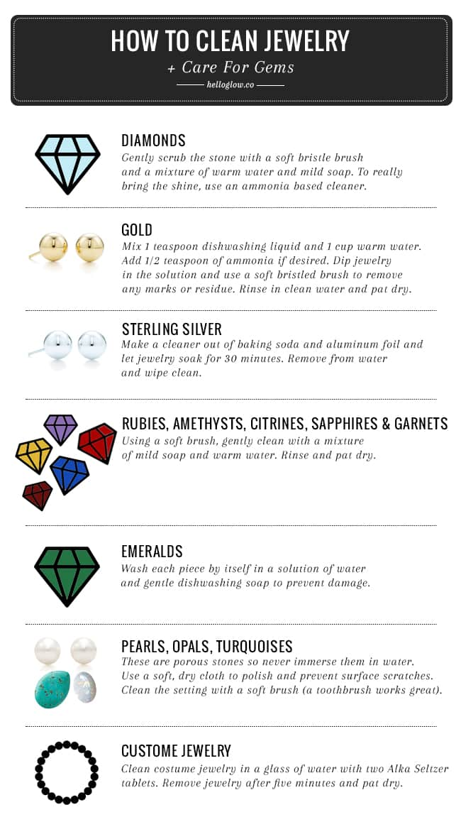 How To Clean Jewelry + Care For Gems