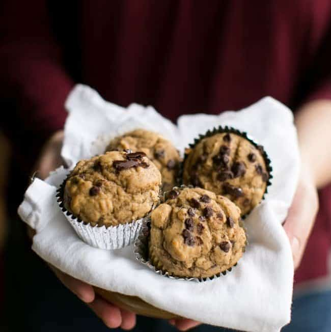 Mood-Boosting Chocolate Chip Banana Muffins