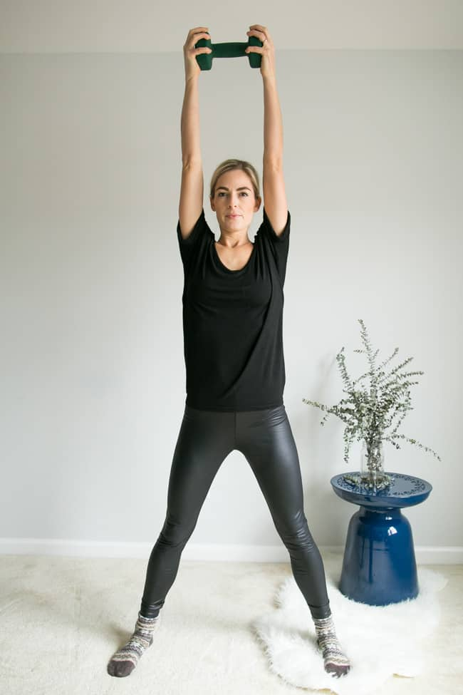 5 Moves for Toned Arms Using Weights - Squat Press