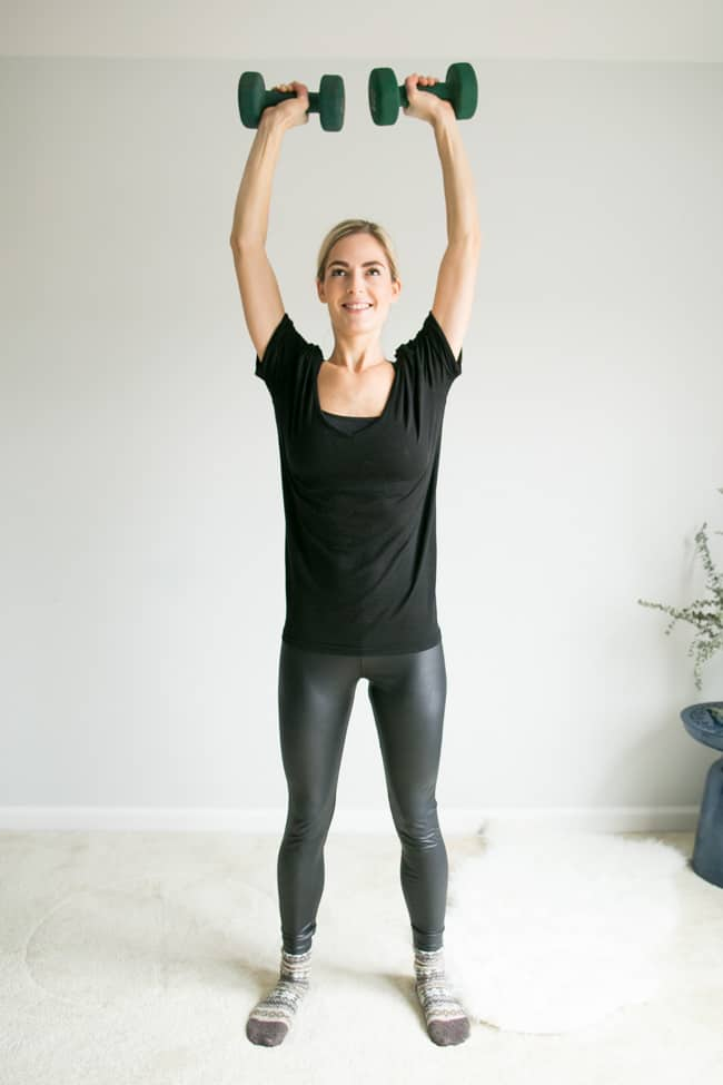 5 Moves for Toned Arms Using Weights - Overhead Shoulder Press