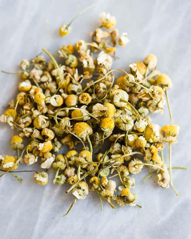 Chamomile Tea Hair Rinse for Blonde Highlights