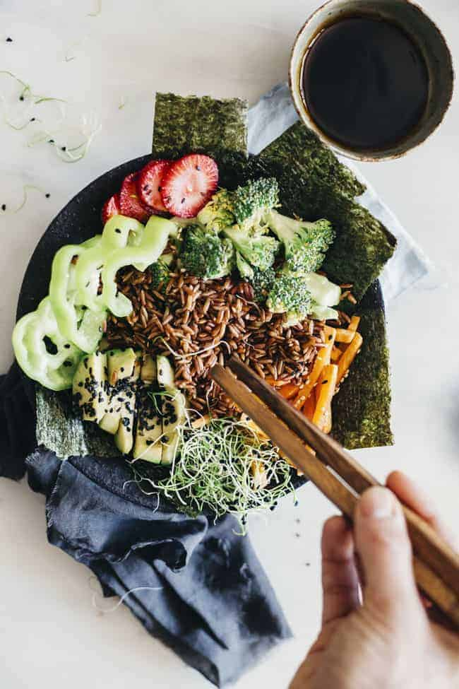 Deconstructed Sushi Bowl from Hello Glow