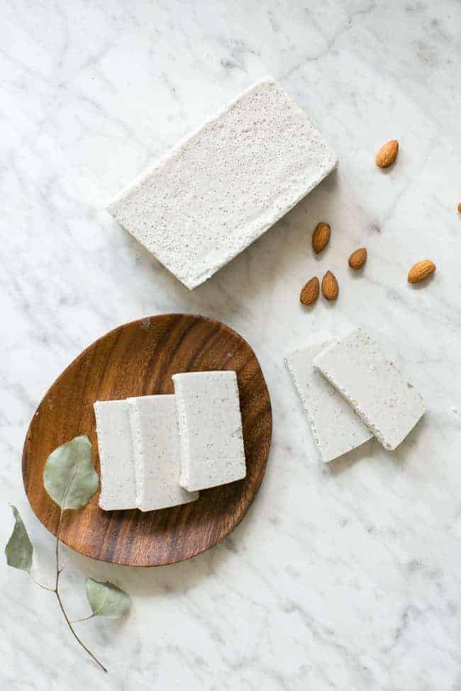 Homemade Almond Vanilla Clay Facial Soap