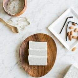Homemade Almond Vanilla Clay Facial Soap