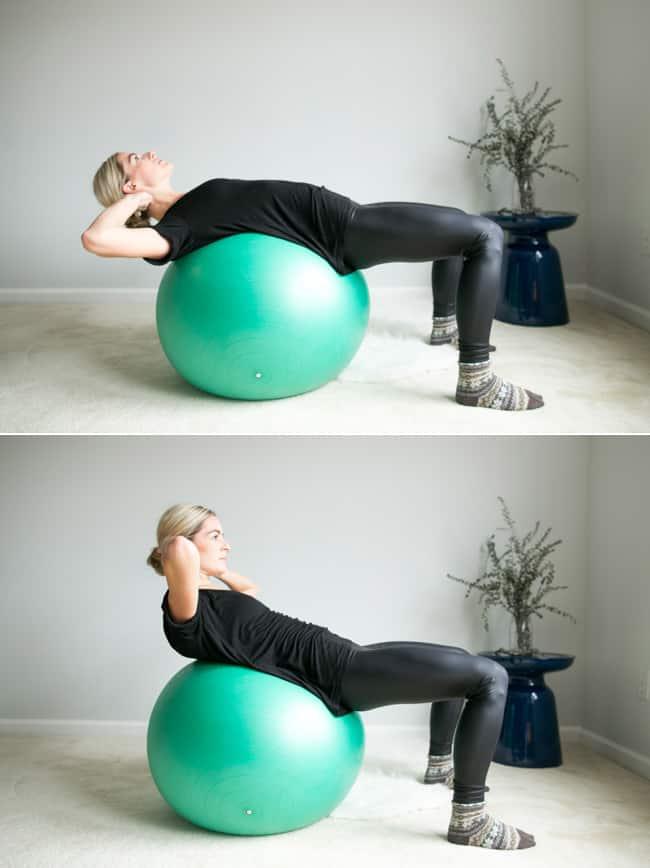 Ball Crunch | 4 Ball Ab Exercises