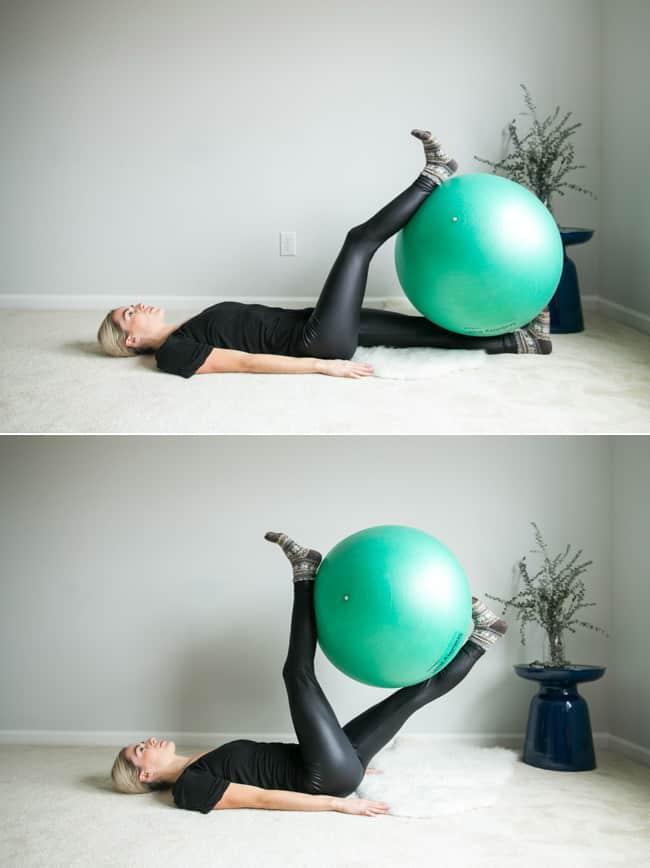 Physio Ball Scissor Leg Raises | 4 Ball Ab Exercises