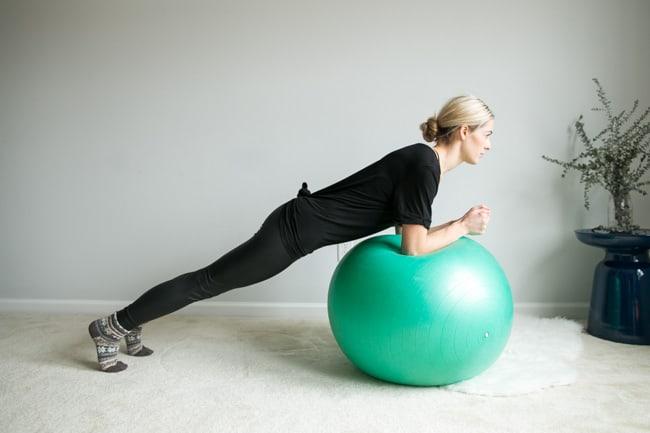 Ball Plank | 4 Ball Ab Exercises