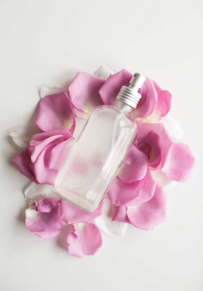 Homemade Rosewater Anti Frizz Spray