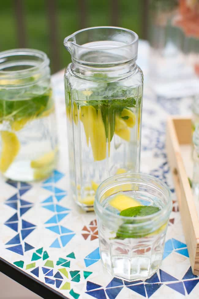 Mint Mango Water   3 Herb Infused Water Recipes
