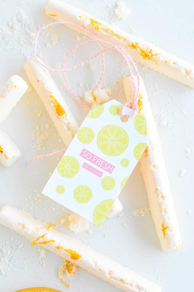 Citrus Bath bombs with printable labels