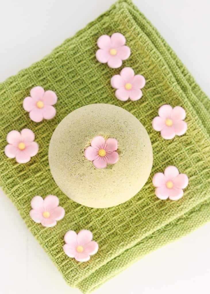 Sakura green tea bath bombs