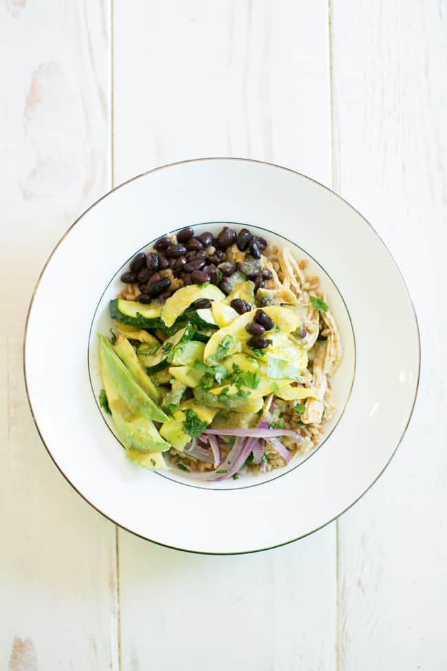 Southwestern Chicken Make Ahead Meal Bowl