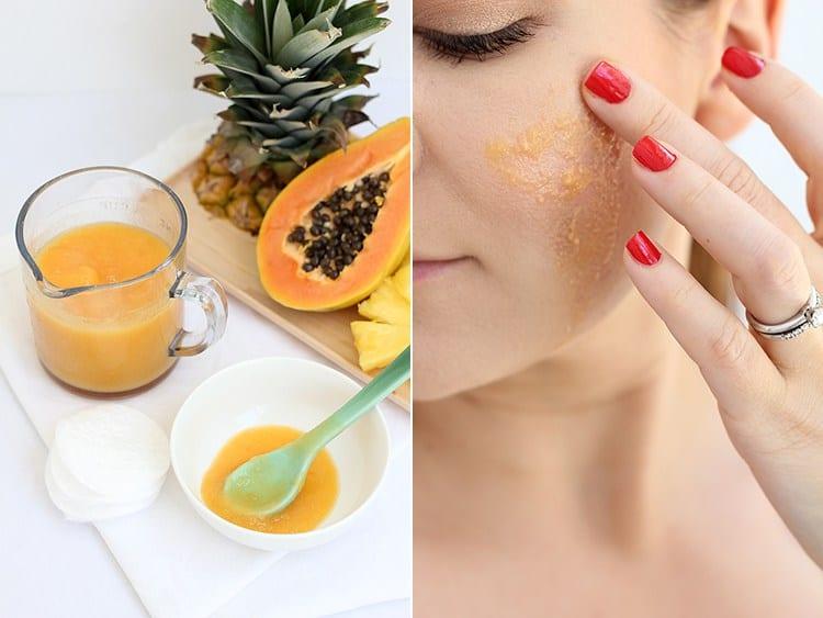 Pineapple papaya enzyme peel by Freut Cake | 10 Pineapple Beauty Recipes
