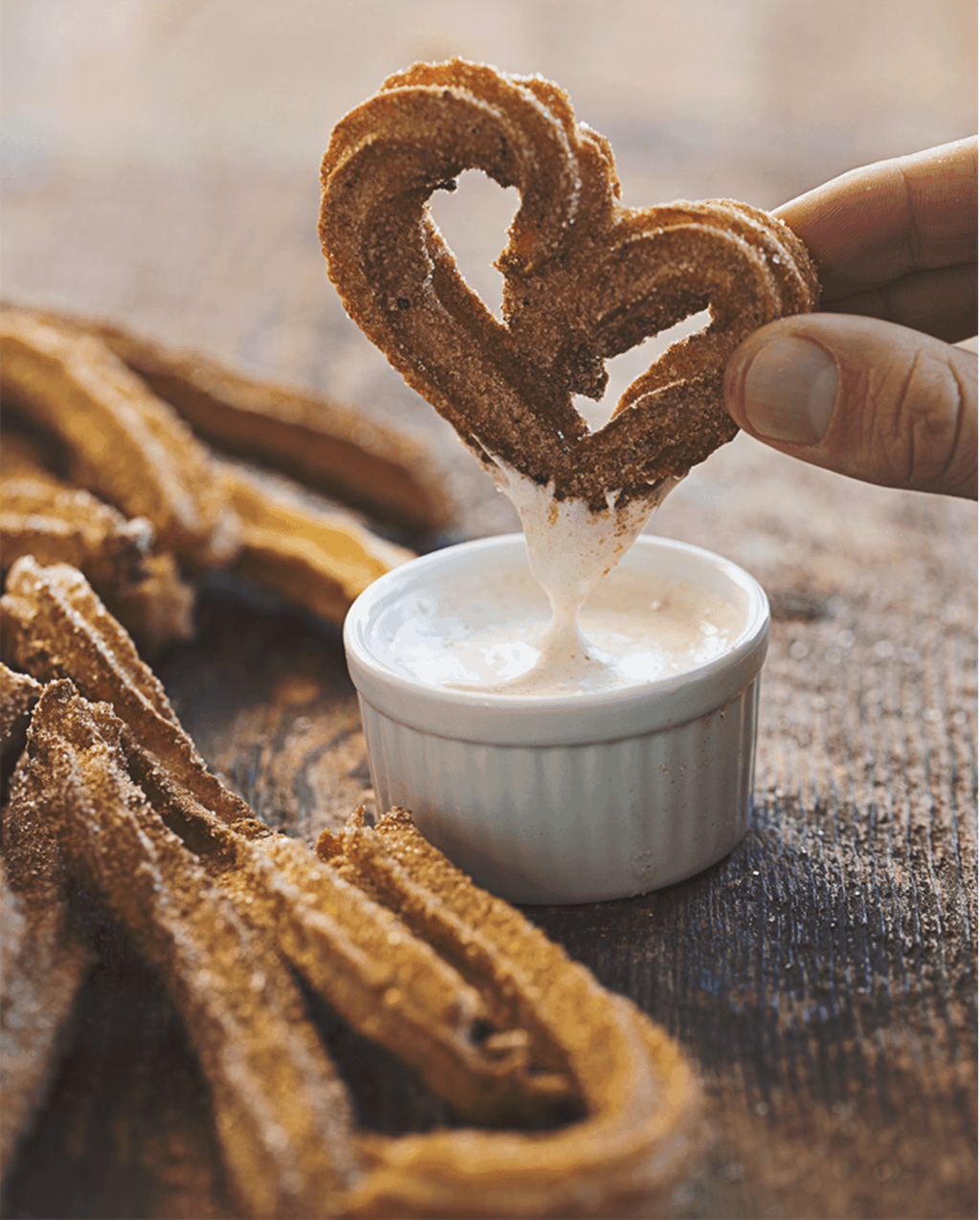 Vegan Gluten-Free Churros with Cinnamon Aquafaba Frosting by So Delicious Dairy-Free | 9 Aquafaba Recipes