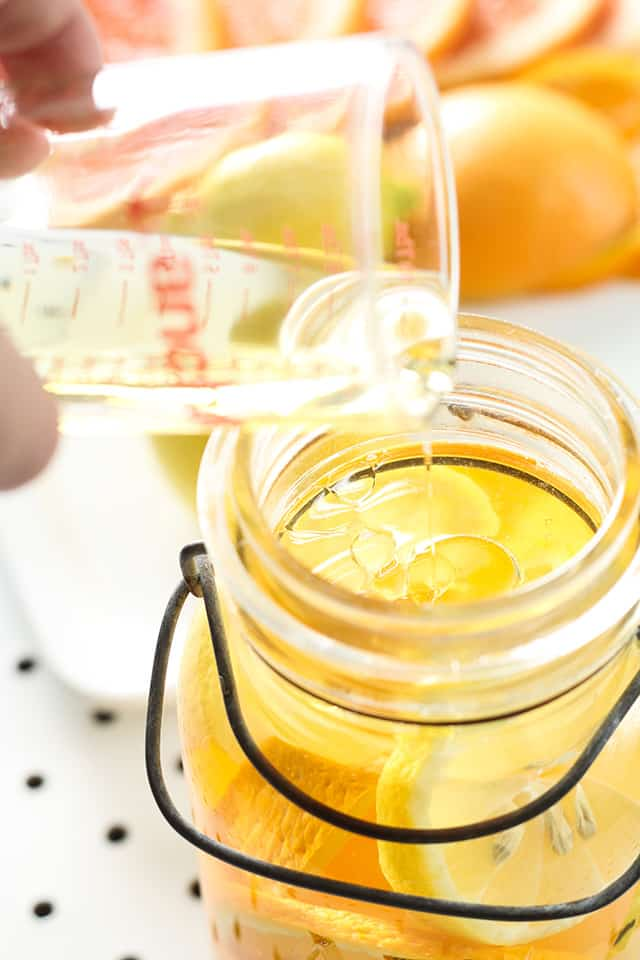 Citrus and Oil Mason Jar Candles