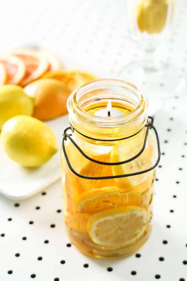 Citrus Mason Jar Candles