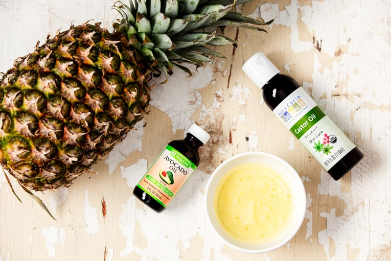 Facial cleansing oil by The Chriselle Factor | 10 Pineapple Beauty Recipes
