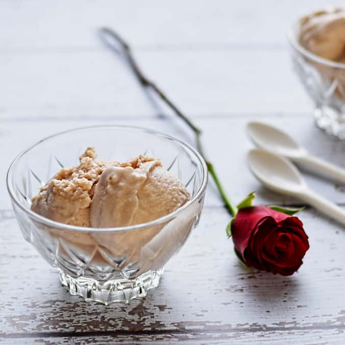 Rose petal and rhubarb ice cream by Circus Gardener | 15 Vegan Ice Cream Recipes
