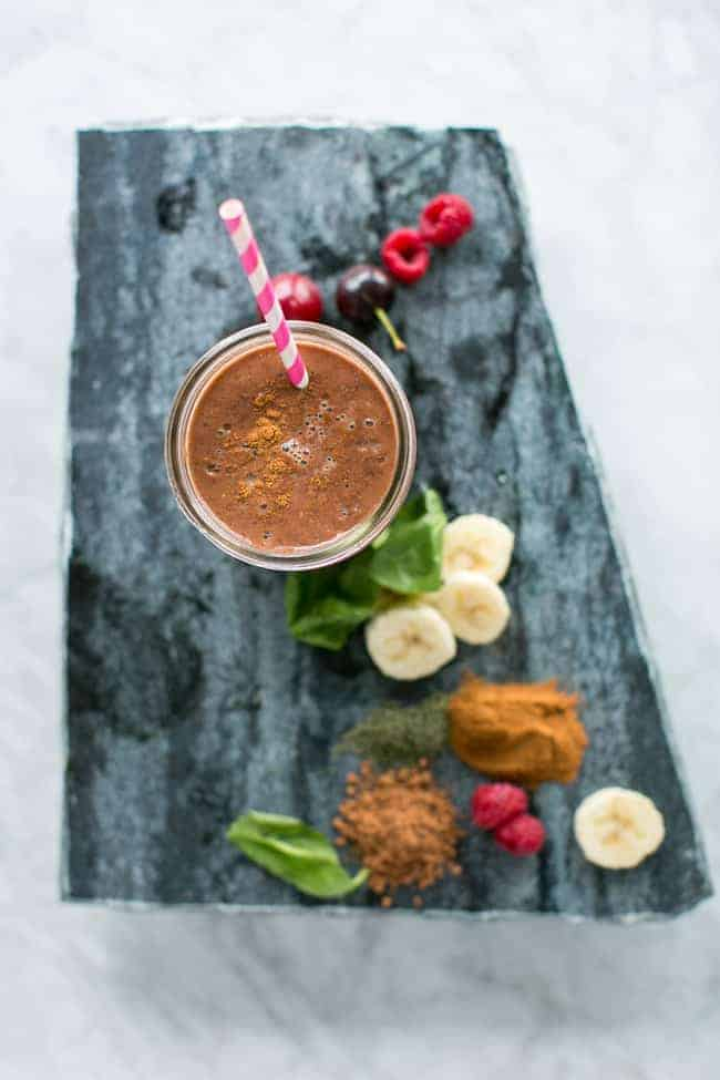 Glowing Chocolate Cherry Collagen Smoothie