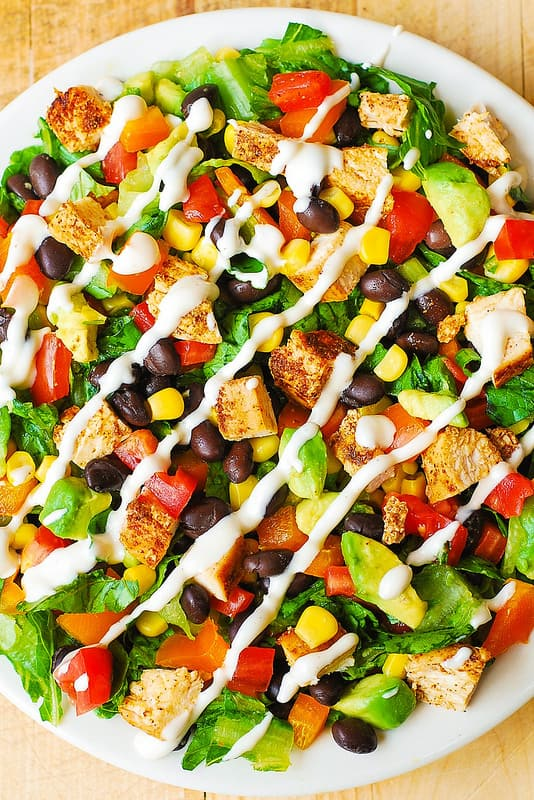 Southwestern Chopped Salad with Buttermilk Ranch Dressing from Julia's Album