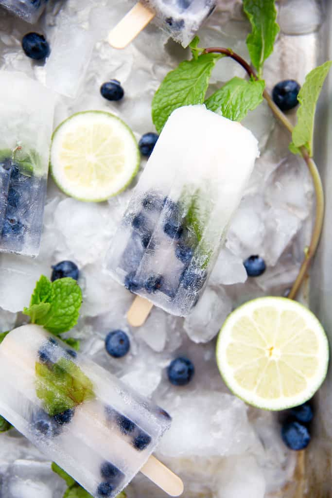 Blueberry Mojito Popsicles, by Broma Bakery | 15 Homemade Popsicles