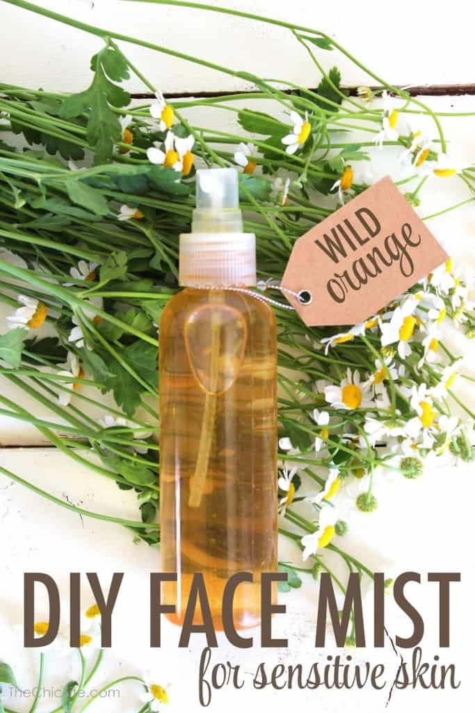 Homemade face mist for sensitive skin by The Chic Site