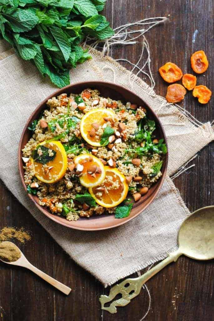Orange, Mint and Apricot Moroccan Quinoa Salad from George Eats