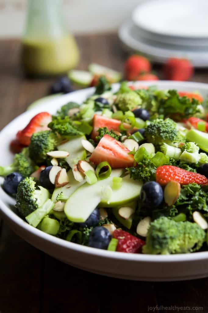 Summer Detox Salad with Citrus Basil Vinaigrette from Joyful Healthy Eats