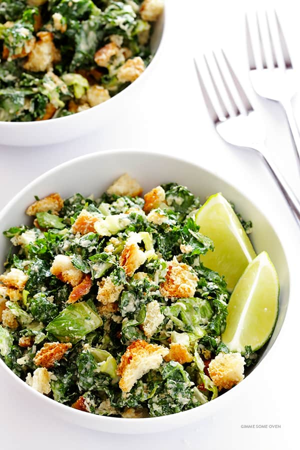 Kale Caesar Salad from Gimme Some Oven