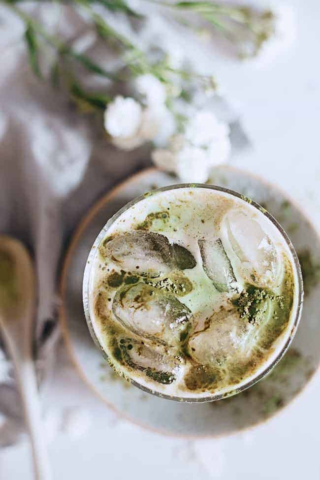 Energy-Boosting Iced Matcha Latte