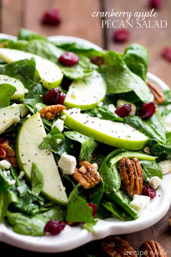 Cranberry Apple Pecan Salad with Creamy Poppyseed Dressing from The Recipe Critic