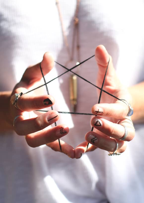 Geometric Nail Art by Free People   6 Easy Nail Ideas