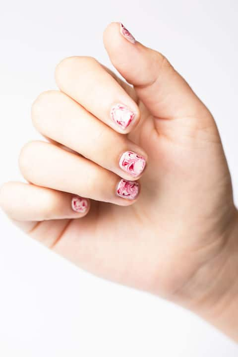Marbled Nails by Good Housekeeping   6 Easy Nail Ideas
