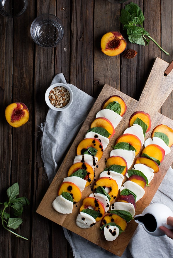 Summer Peach Caprese Salad from Say Yes