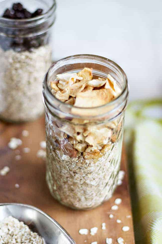 Cinnamon Apple with Mixed Nuts DIY Oatmeal Packs