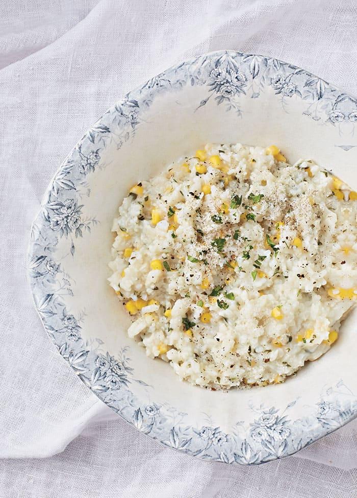 Corn Basil Risotto