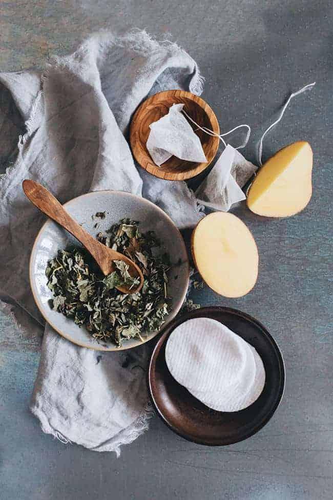 Acne-Fighting Potato and Green Tea Overnight Mask