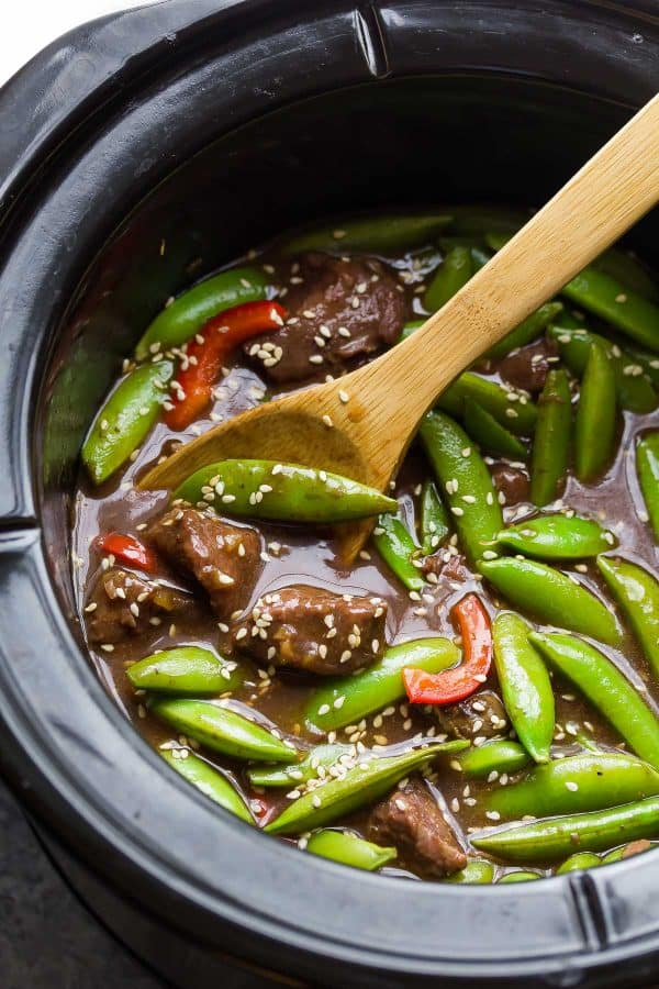 Sesame Ginger Beef with Snap Peas