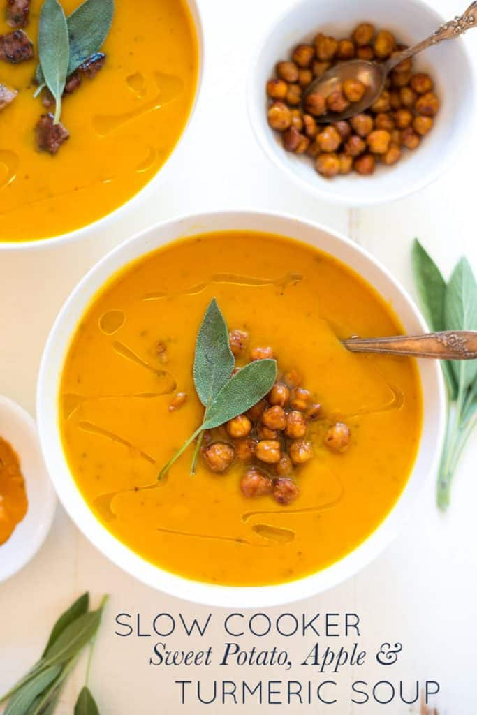 Sweet Potato Apple & Turmeric Soup