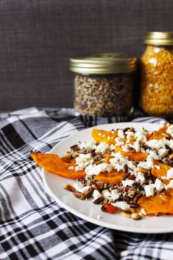 Warm Butternut Quinoa Salad by Cake and Whiskey