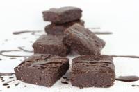Raw Dark Chocolate Fudge Brownies