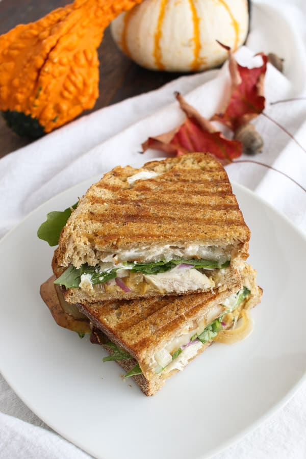 Pear Goat Cheese Chicken Panini by Tasty Seasons