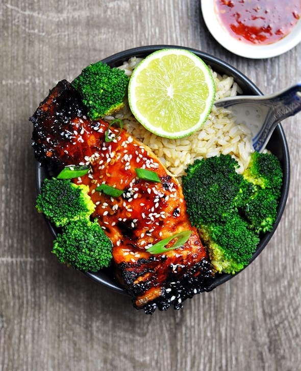 Grilled Lime Sweet Chili Salmon by Fuss Free Cooking
