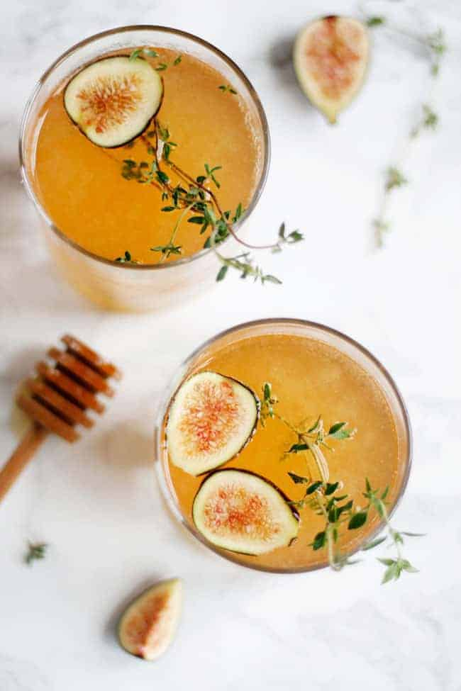 Sparkling Fig & Honey Cocktail