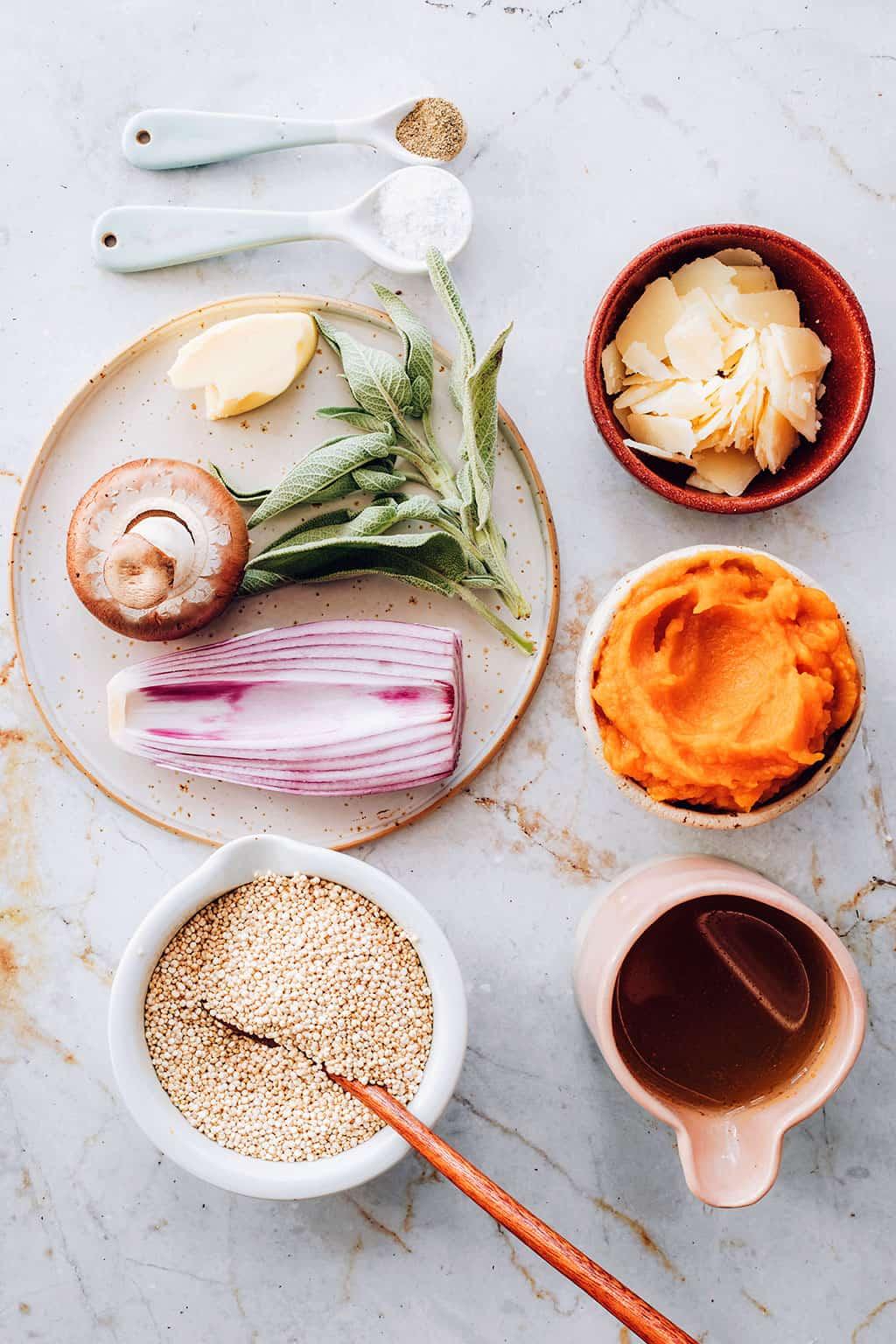 Quinoa Risotto Ingredients