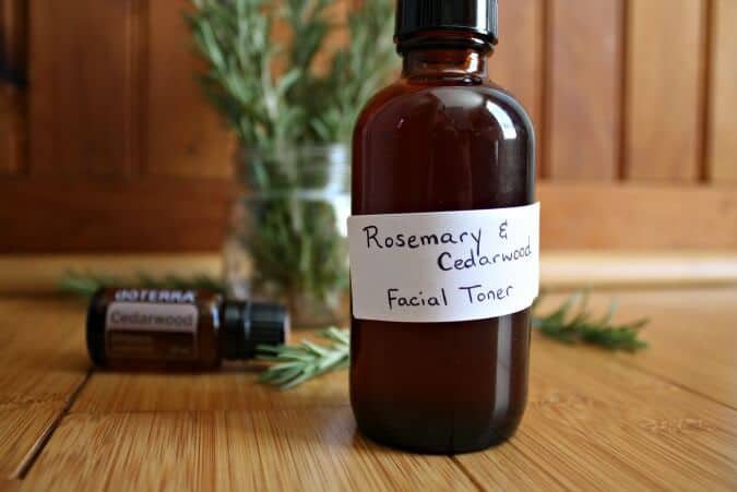 15 Ways to Make Your Own Homemade Toner - Rosemary cedarwood toner15 Ways to Make Your