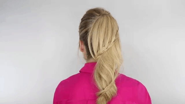 Spiral braided ponytail - 11 Braided Ponytail Tutorials Perfect for Fall